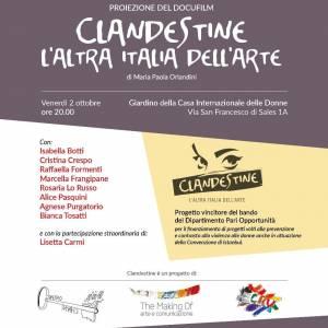 """Proiezione del docu-film: """"Clandestine l'altra italia dell'arte"""""""