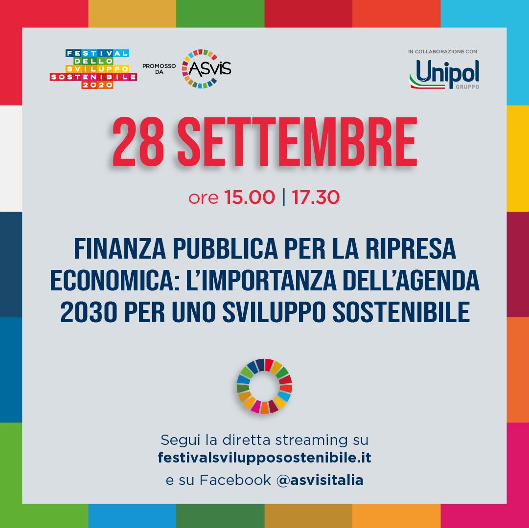 Finanza pubblica per la ripresa economica:  l'importanza dell'agenda 2030 per uno sviluppo sostenibile