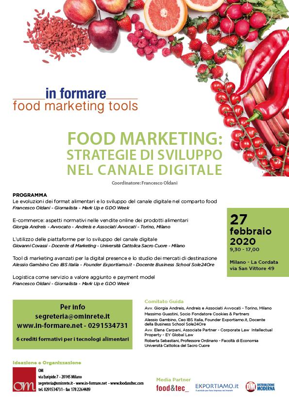 Food marketing: strategie di sviluppo nel canale digitale