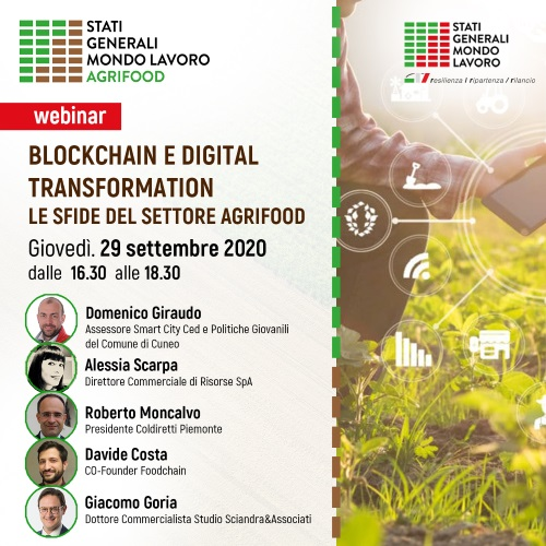 Blockchain e digital transformation: le sfide del settore agrifood