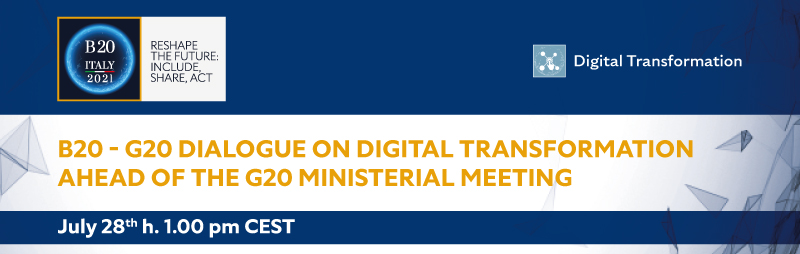 The B20 – G20 dialogue on digital transformation ahead of the g20 ministerial meeting