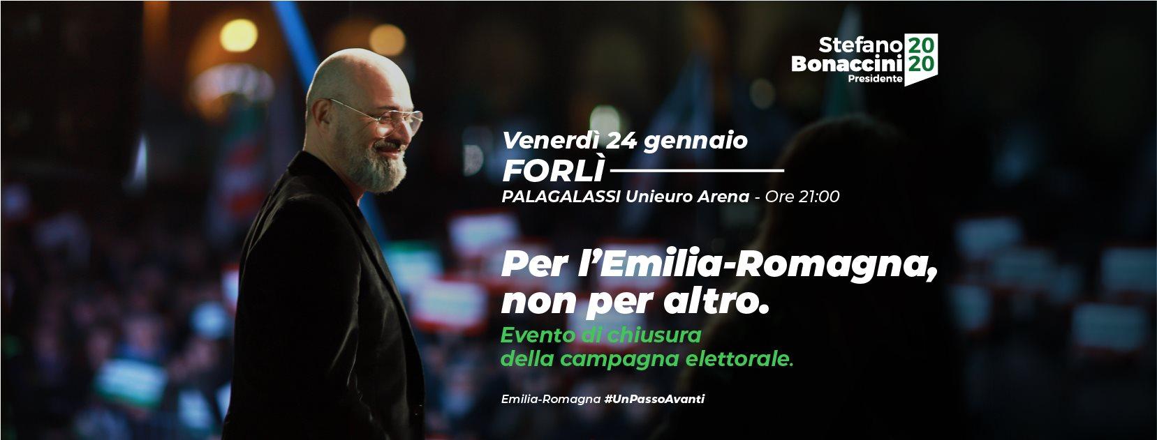 Chiusura Campagna Elettorale Stefano Bonaccini a Forlì