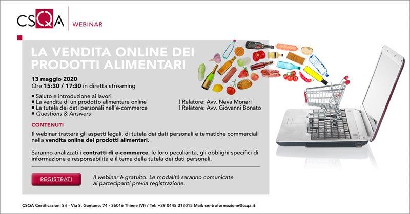 La vendita online dei prodotti alimentari