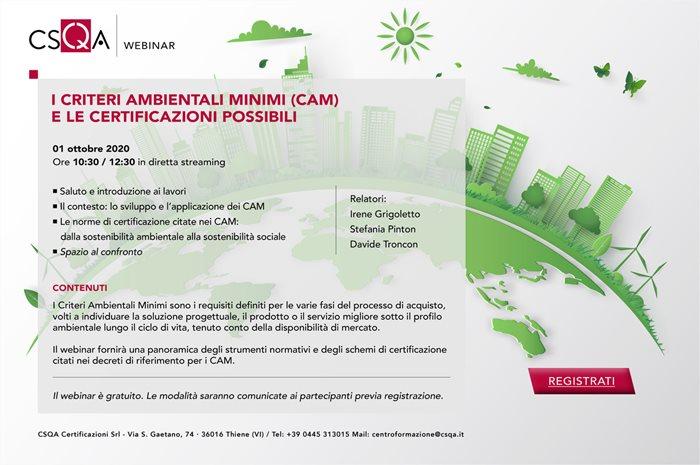 I criteri ambientali minimo (CAM) e le certificazioni possibili
