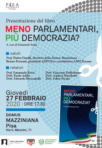 """Presentazione del libro: """"Meno parlamentari, più democrazia"""""""