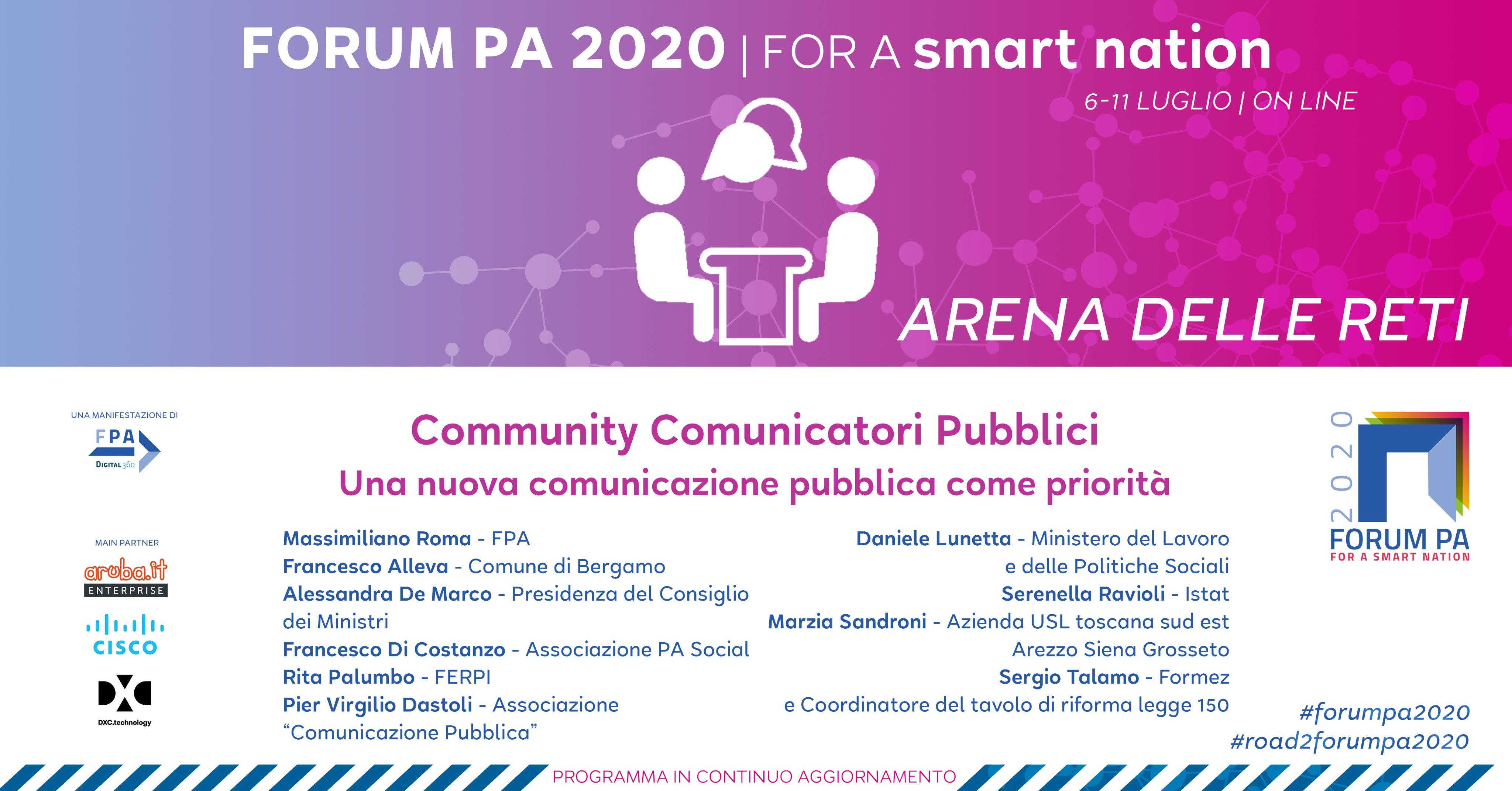 Community Comunicatori Pubblici – Una nuova comunicazione pubblica come priorità
