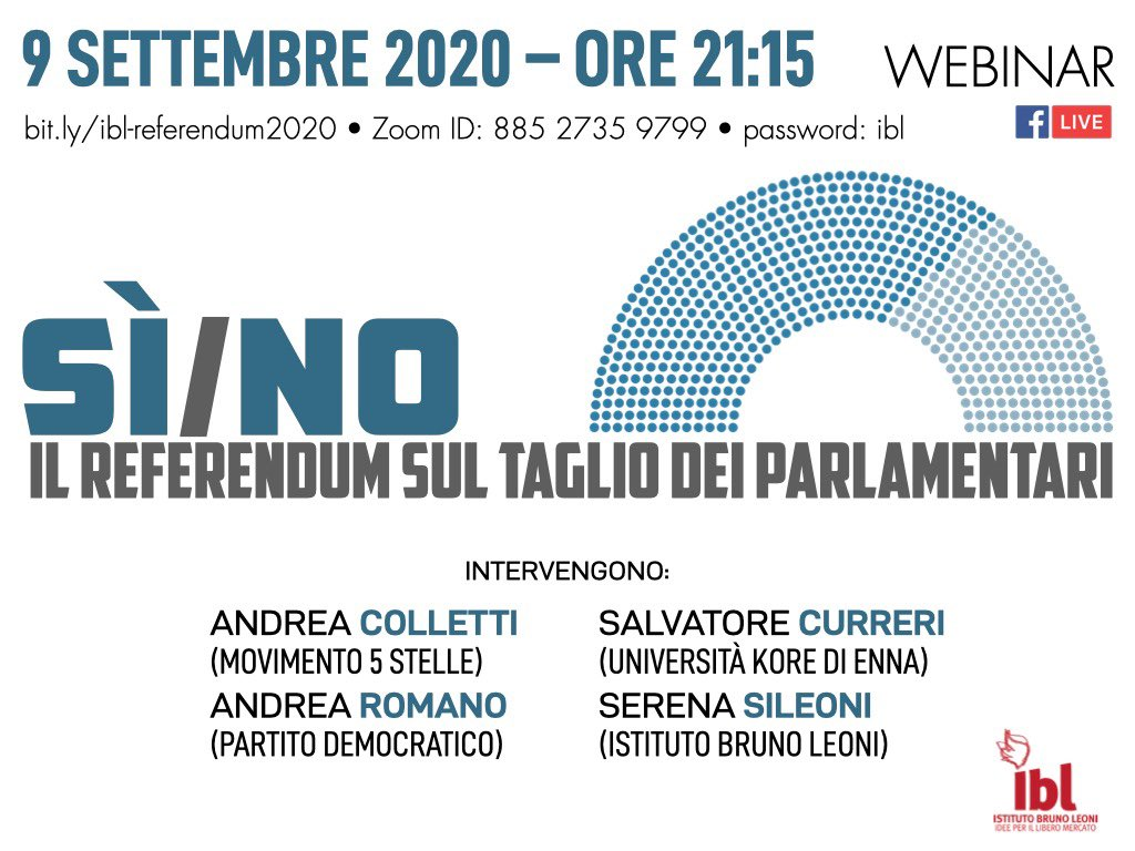 Sì e No. Il referendum sul taglio dei parlamentari