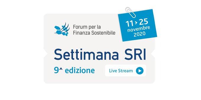 IX Settimana dell'Investimento Sostenibile e Responsabile SRI