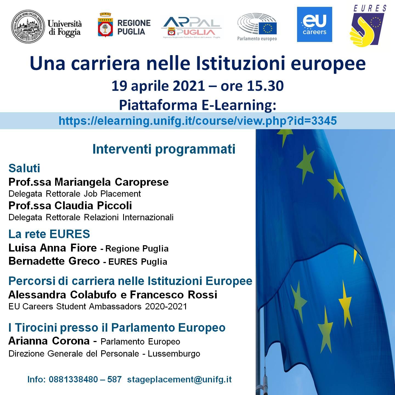 Una carriera nelle istituzioni europee