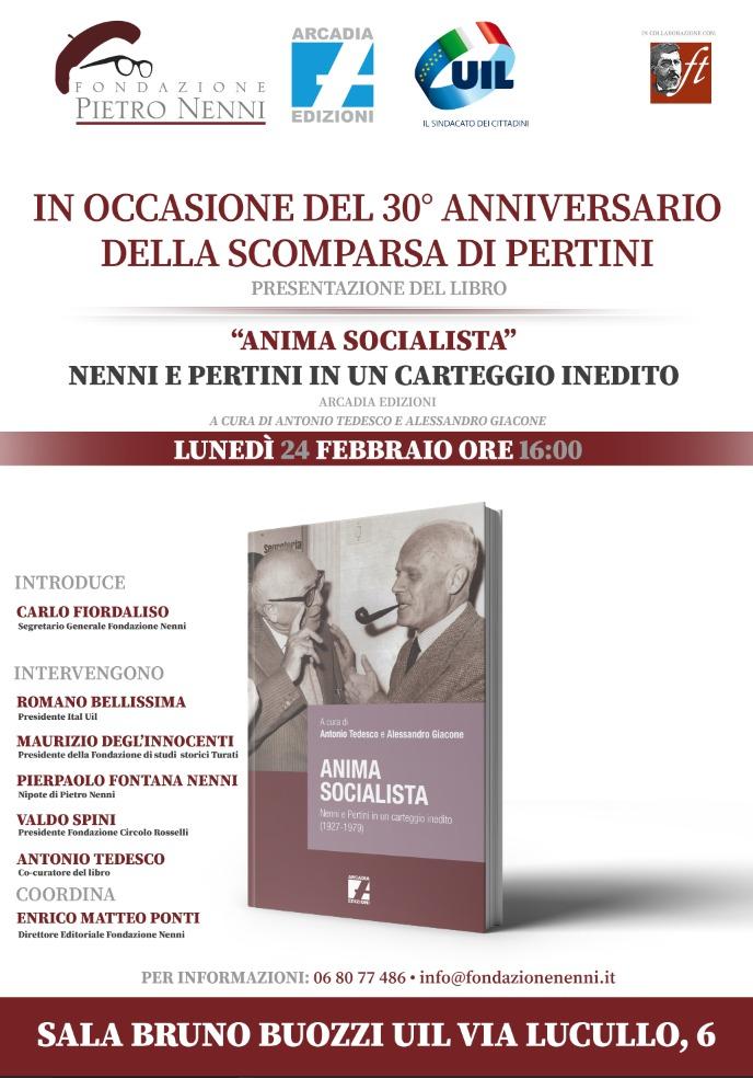 """Presentazione del libro: """"Anima socialista. Nenni e Pertini in un carteggio inedito"""""""