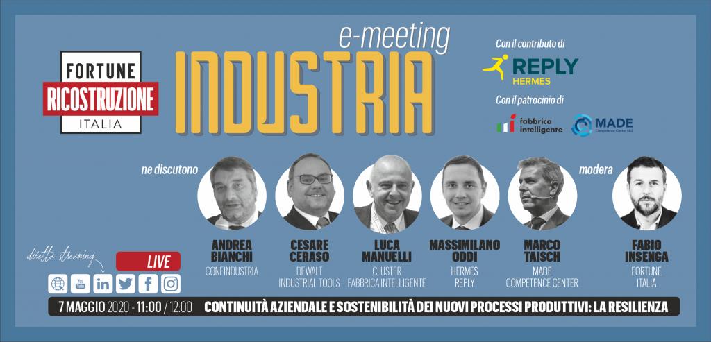 1° E-meeting Fortune Italia: ricostruzione industria