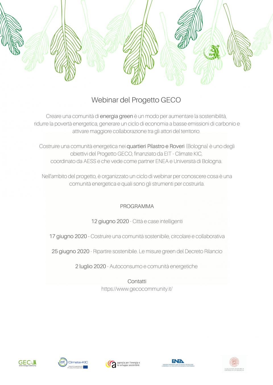 Progetto Geco - Ripartire sostenibile. Le misure green del Decreto Rilancio