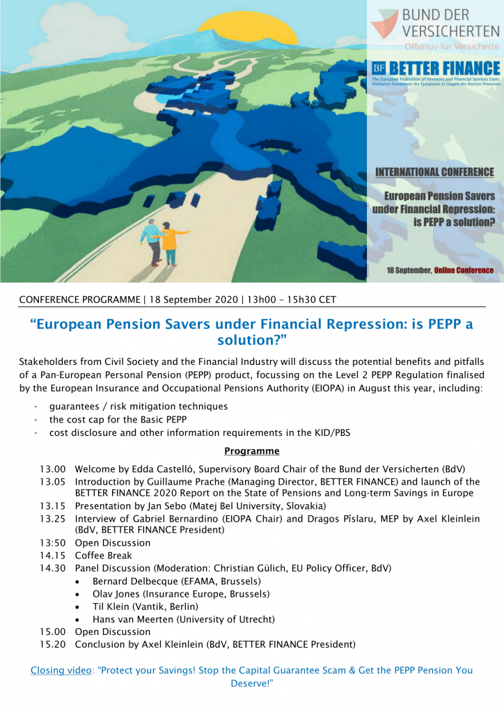 European Pension Savers under Financial Repression: is PEPP a solution?