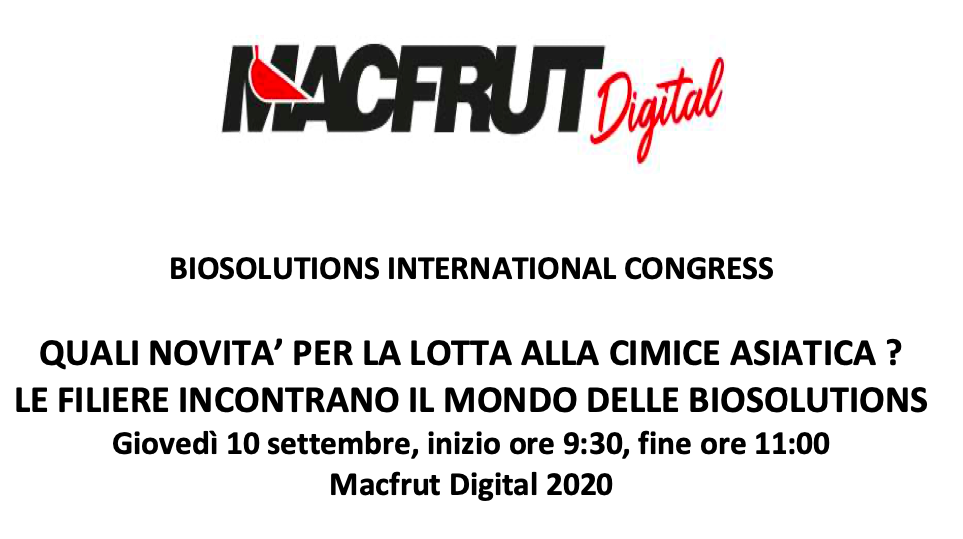 Biosolutions international congress: Quali novità per la lotta alla cimice asiatica?