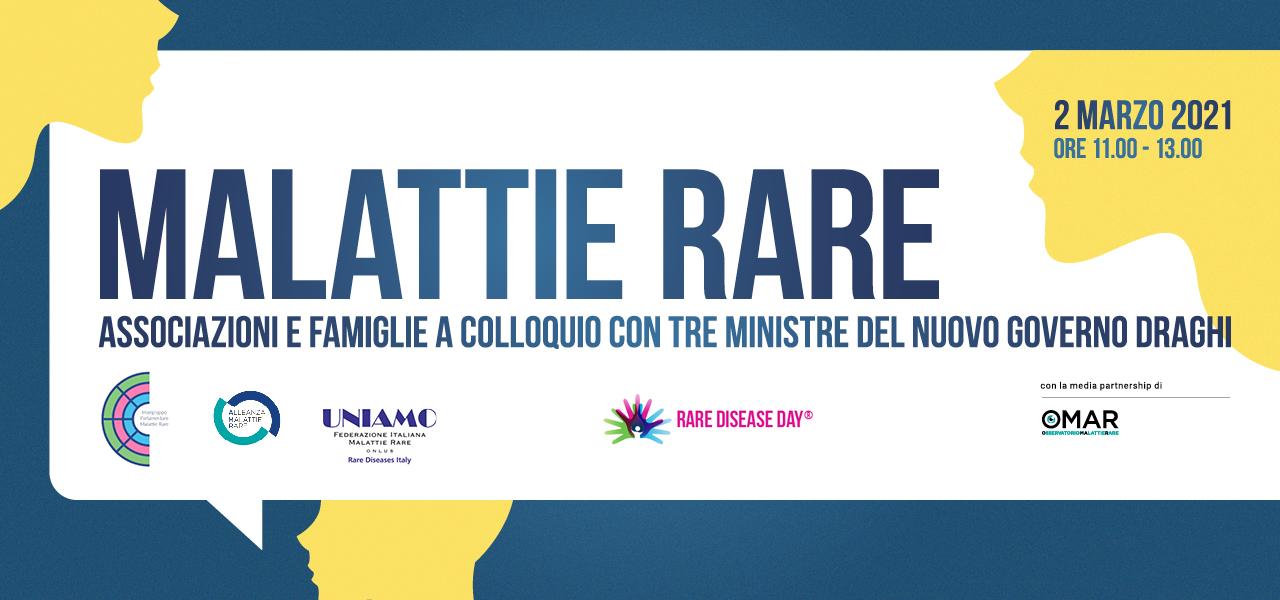 Malattie rare – Associazioni e famiglie a colloquio con tre ministre del nuovo Governo Draghi