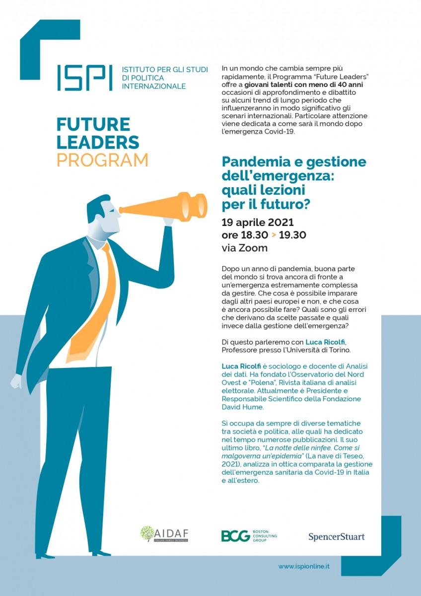 Pandemia e gestione dell'emergenza: quali lezioni per il futuro?