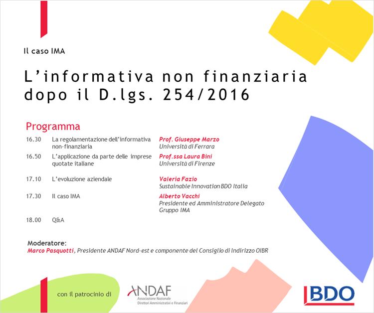 L'informativa non finanziaria dopo il DLGS 254/2016