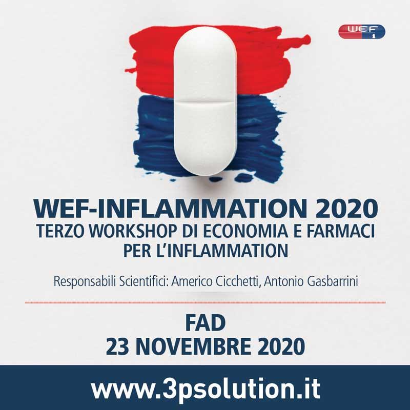 WEF Inflammation 2020 - terzo workshop di economia e farmaci per l'inflammation