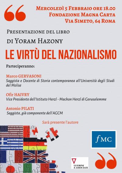 """Presentazione del libro: """"Le virtù del nazionalismo"""""""