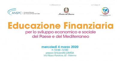 Educazione finanziaria per lo sviluppo economico e sociale del Paese e del Mediterraneo