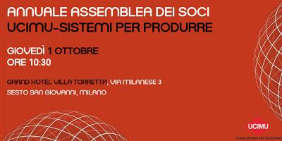 Assemblea UCIMU-Sistemi Per Produrre