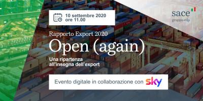 Open (again) - Prospettive per una ripartenza all'insegna dell'export