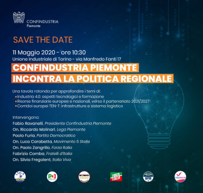 Confindustria Piemonte incontra la politica regionale