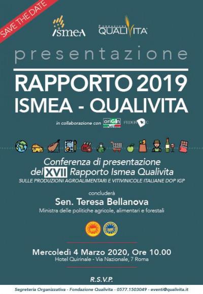XVII Rapporto Ismea Qualivita - I prodotti agroalimentari e vitivinicoli italiani DOP IGP STG