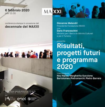 Decennale del Maxxi: risultati, progetti futuri e programma 2020