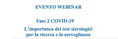 Fase 2 COVID-19 - L'importanza dei test sierologici per la ricerca e la sorveglianza