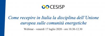 Come recepire in Italia la disciplina dell'Unione europea sulle comunità energetiche