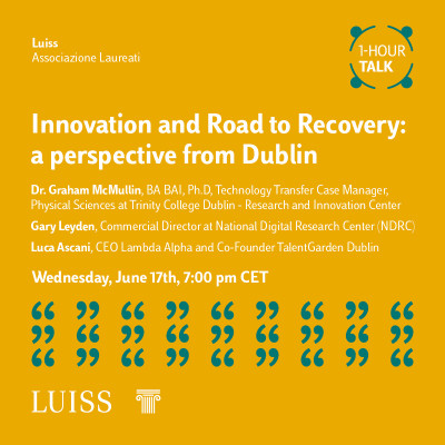 Innovation and Road to Recovery: a perspective from Dublin