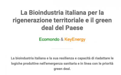 La Bioindustria italiana per la rigenerazione territoriale e il green deal del Paese