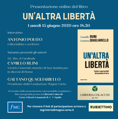 """Presentazione del libro: """"Un'altra libertà"""""""
