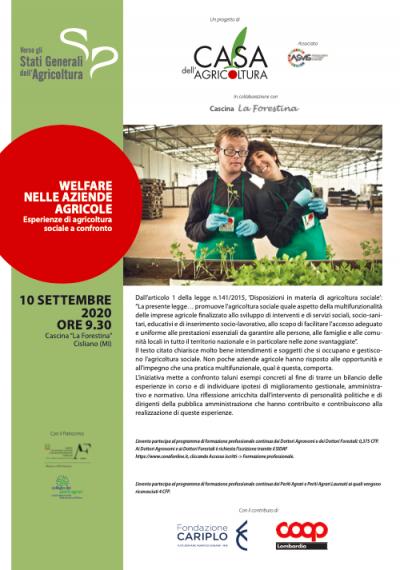 Welfare nelle aziende agricole. Esperienze di agricoltura sociale a confronto
