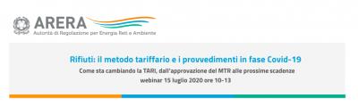 Rifiuti: il metodo tariffario e i provvedimenti in fase Covid-19