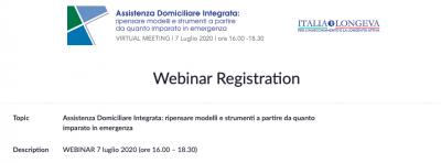 Assistenza Domiciliare Integrata: ripensare modelli e strumenti a partire da quanto imparato in emergenza