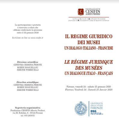 Il regime giuridico dei musei un dialogo italiano-francese