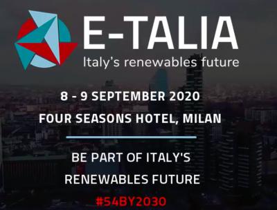 E-Talia Summit 2020 - Accelerating the Italian energy transition