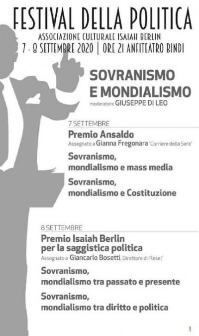 Festival della Politica: Sovranismo e Mondialismo