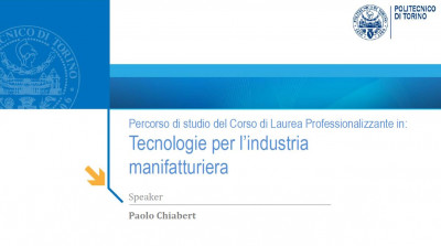 Tecnologie per l'Industria Manifatturiera