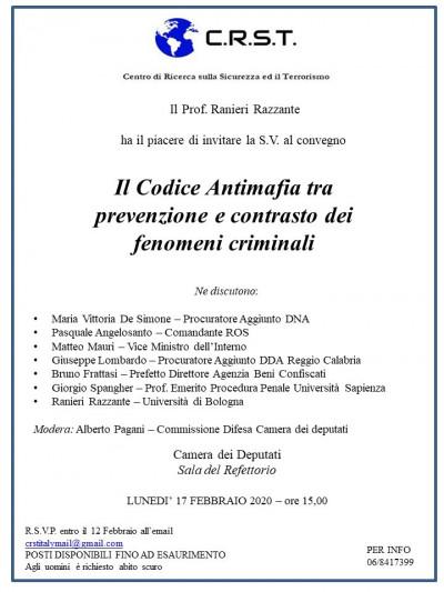 Il Codice Antimafia tra prevenzione e contrasto dei fenomeni criminali