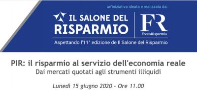 PIR: il risparmio al servizio dell'economia reale