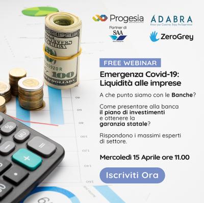 Emergenza Covid-19: Liquidità alle imprese