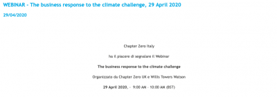 The business response to the climate challenge