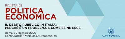 Presentazione Rivista di Politica Economica - Il debito pubblico in Italia
