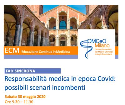 Responsabilità medica in epoca Covid: possibili scenari incombenti